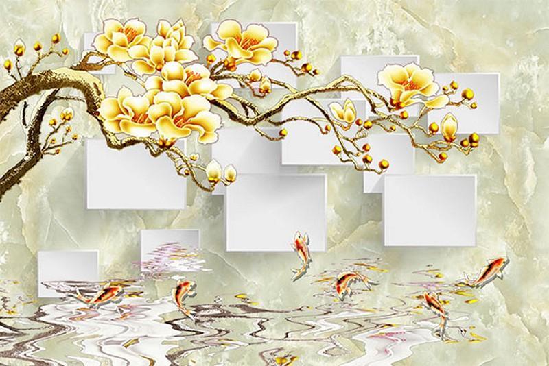 Tranh dán tường 3D giả ngọc đẹp nhất - Mã: 3D-061-copy