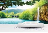 Tranh giấy dán tường 3d thác nước đẹp