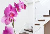 Không gian sống ấn tượng với giấy dán tường họa tiết hoa lớn