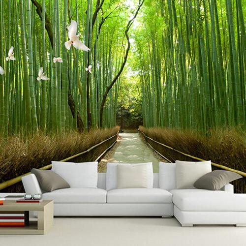 Chủ nhà như sống giữa thiên nhiên nhờ giấy dán tường