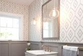 Mẫu giấy dán tường 3d phá cách cho phòng tắm
