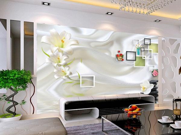 Giấy dán tường phòng khách 3D đẹp và sang trọng cho ngôi nhà bạn thêm lung linh