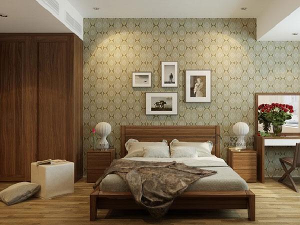 Một số mẫu giấy dán tường đơn giản dành cho phòng ngủ