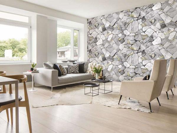 Giấy dán tường họa tiết dành cho phòng khách đầy ấn tượng