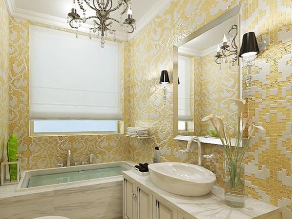 Các mẫu giấy dán tường cho phòng tắm thêm sinh động