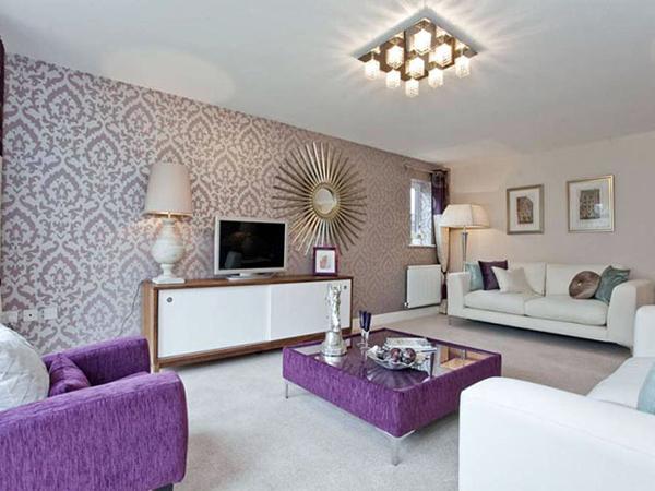 Những mẫu giấy dán tường màu tím đẹp phù hợp với từng không gian