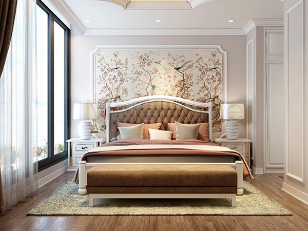 Làm cho phòng ngủ bạn trở nên sang trọng hơn với giấy dán tường