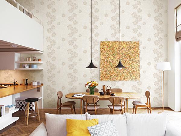 Những mẫu giấy dán tường phù hợp nhất cho phòng bếp