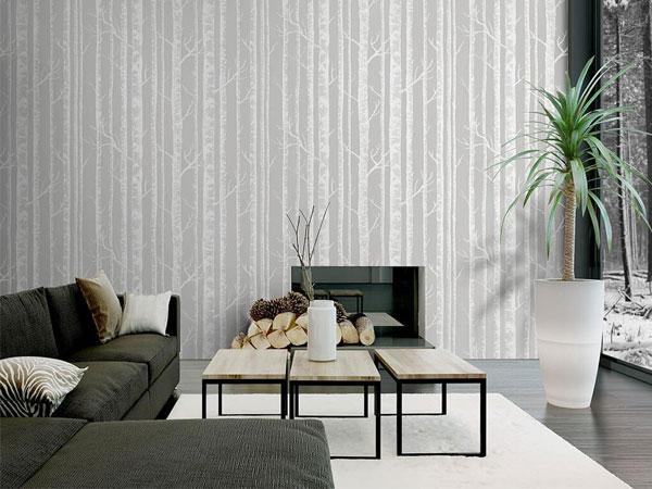 Làm nổi bật ngôi nhà với giấy dán tường đơn sắc