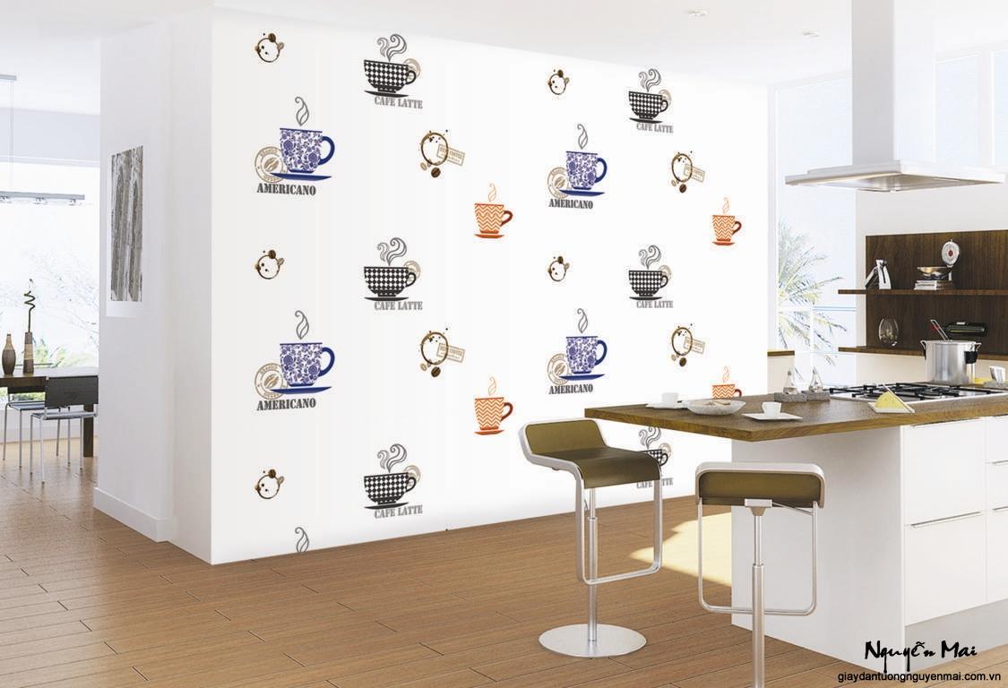Giấy dán tường phù hợp cho nhà bếp