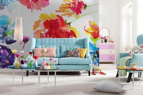 Trang trí nhà với những mẫu giấy dán tường họa tiết hoa đẹp ngất ngây