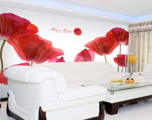 Những mẫu giấy dán tường trang trí đẹp cho phòng khách