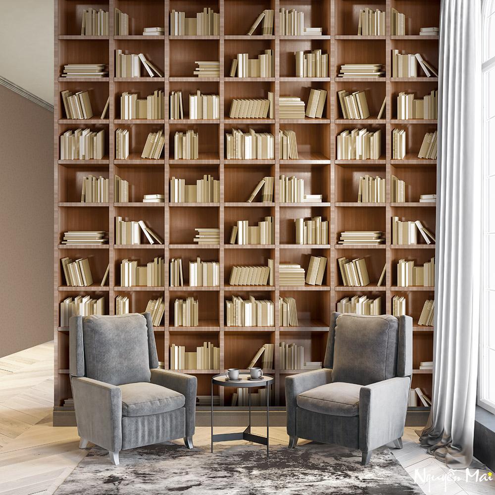 Giấy dán tường LIBRARY 2660-3m