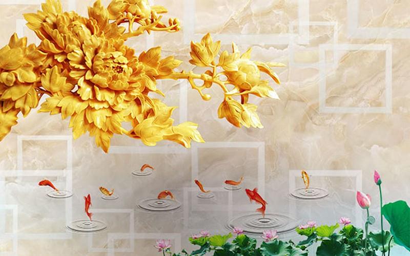 Tranh dán tường 3D giả ngọc đẹp nhất - Mã: 3D-062-copy