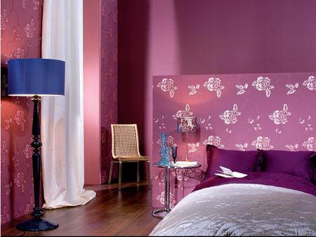 Nội, ngoại thất: Những mẫu giấy dán tường màu tím đẹp phù hợp với từng không gia Gdt-mau-tim-1